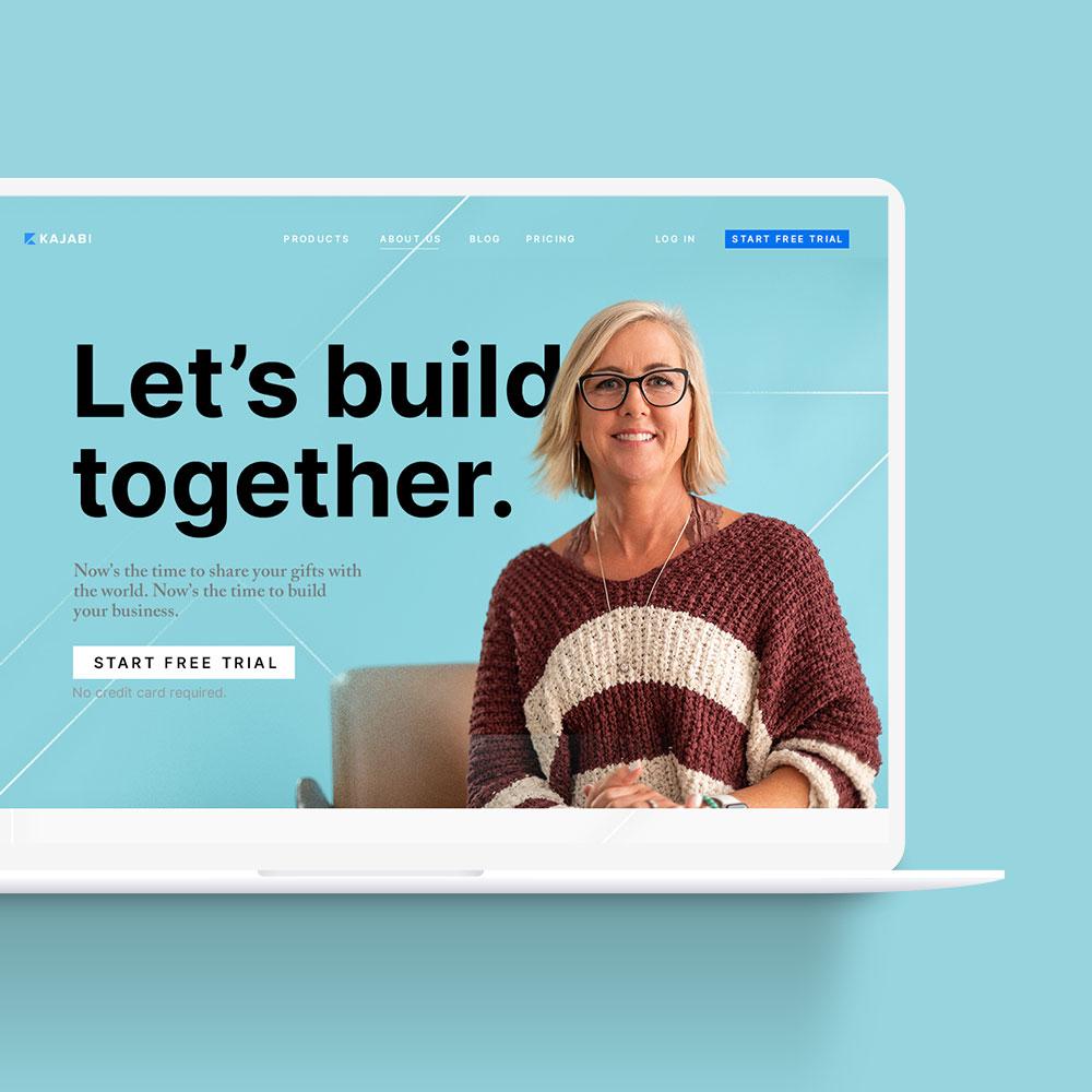 Kajabi-svetaines-dizainas-web-kurimas-Klaipedoje